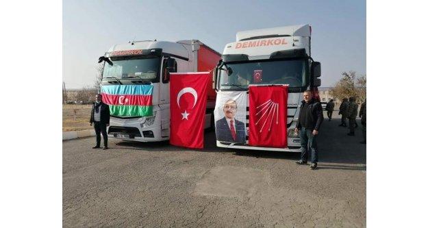 CHP'den Nahçivan'a 2 Tır Yardım Gönderildi