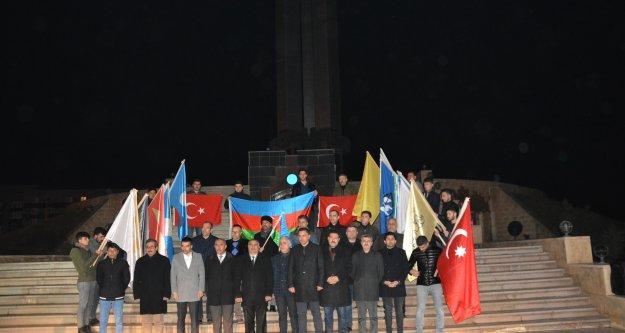 Hocalı Şehitleri Şehit Türkler Anıtında Anıldı