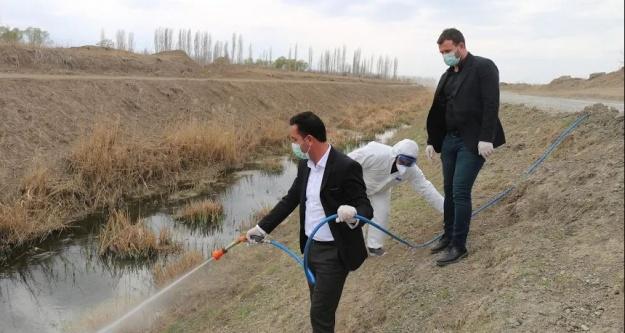 Iğdır Belediyesi Larva Mücadelesine başladı