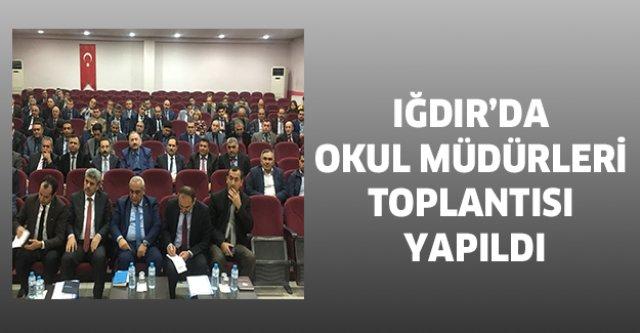 Iğdır'da okul müdürleri toplantısı yapıldı