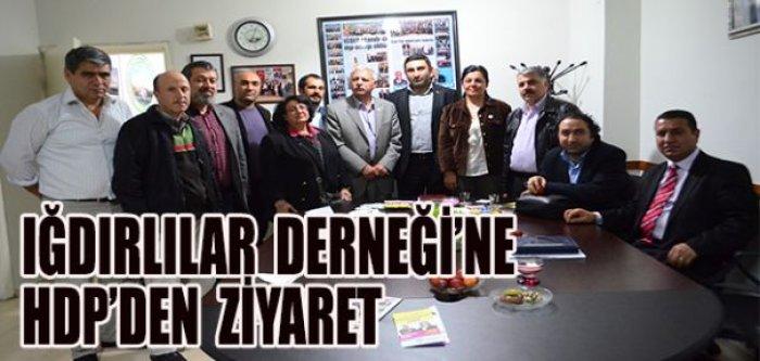 Iğdırlılar Derneği'ne HDP'den ziyaret