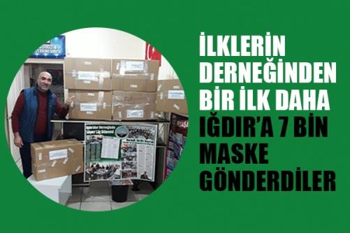İlklerin Derneğinden Bir İlk Daha Iğdır'a 7 bin maske gönderdiler