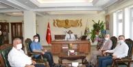 Basından Vali Sarıibrahim#039;e hoşgeldin ziyareti