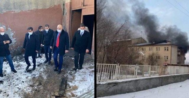 Tuzluca Devlet Hastanesinde korkutan yangın