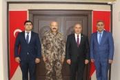 AZERBAYCAN'IN KARS BAŞKONSOLOSUNDAN EMNİYET MÜDÜRÜNE ZİYARET