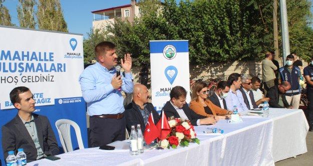 VALİ/BAŞKAN SARIİBRAHİM, MAHALLE TOPLANTISI DÜZENLEDİ