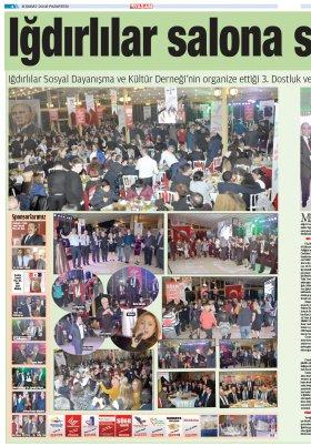 Iğdırlılar Derneği - 04.03.2016 Manşeti